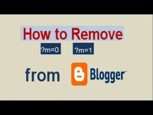 remove m1 m0 from blogger blog