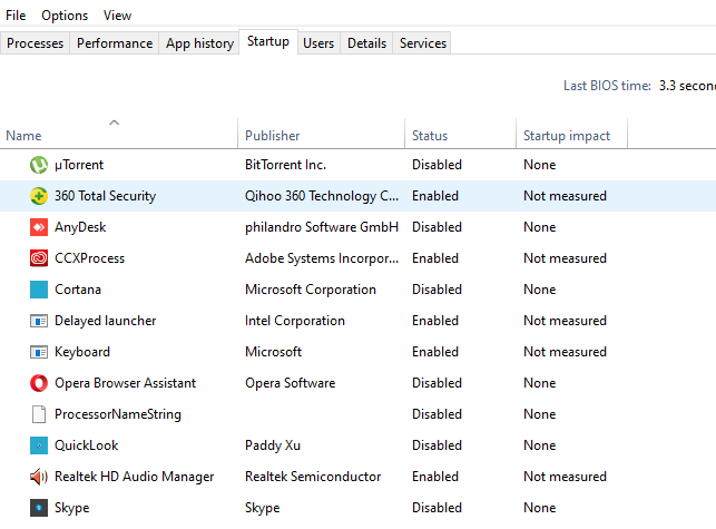 how to disable startup apps in windows